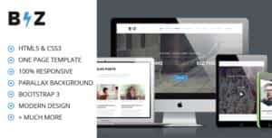 BIZ – One Page Parallax HTML Template