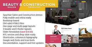 Beauty & Construction Services HTML Template