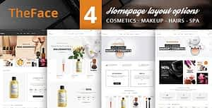 Beauty Cosmetics Store HTML Template – TheFace