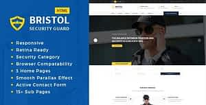 Bristol – Security Services HTML Template