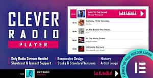 CLEVER – HTML5 Radio Player With History – Shoutcast and Icecast – Elementor Widget Addon