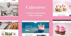 Cakecious – Bakery and Pastry Shop HTML Template