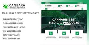 Canbara – Medical Marijuana  HTML Template