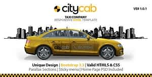 CityCab – Taxi Company Responsive HTML Template