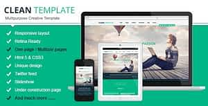 Clean Responsive Html Template