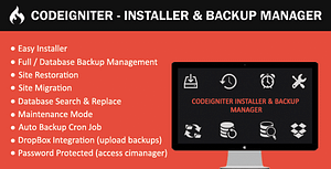 CodeIgniter – Installer & Backup Manager