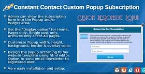 Constant Contact Custom Popup Subscription for WP