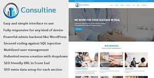 Consultine – Consulting, Business and Finance Website CMS