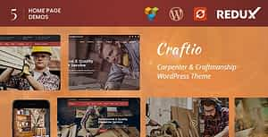 Craftio – Carpenter WordPress Theme