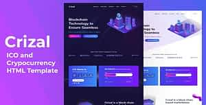 Crizal  – ICO and Cryptocurrency HTML Template