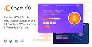 Crypto ICO – Cryptocurrency Website Landing Page HTML Template