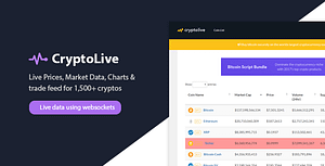 CryptoLive – Realtime Cryptocurrency Market Cap, Prices & More (+Free WP Plugin)