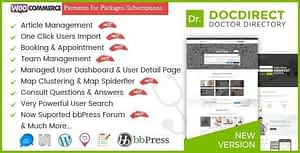 DocDirect – WordPress Theme for Doctors and Healthcare Directory