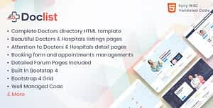 Doclist – Medical and Doctor Directory HTML Template