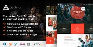 Activia –  Gym and Fitness WordPress Theme