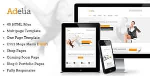 Adelia – Simple and Clean HTML Template