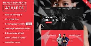 Athlete – Fitness, Gym and Sport HTML template