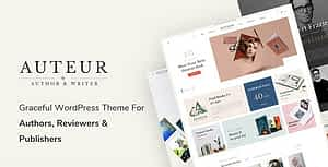 Auteur – WordPress Theme for Authors and Publishers