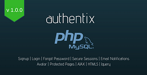 Authentix – Ready to Integrate User System