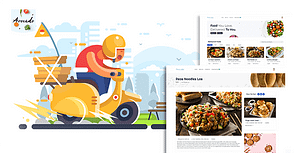 Avocada – Food Delivery Restaurant script Template