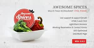 Awesome Spice – Restaurant / Cafe HTML Template