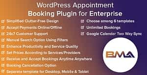 BMA – WordPress Appointment Booking Plugin for Enterprise