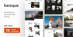 Baroque – Architecture & Interior WordPress Theme