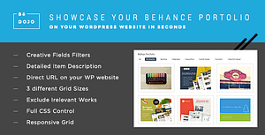 BeDojo – Behance Works WordPress Portfolio Plugin