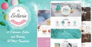 Bellaria – A Delicious Cakes and Bakery HTML Template