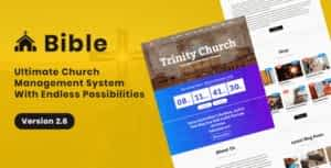 Bible – Church Management System With Shop, Donation, Sermon, Blog, Event, Role, Attendance & More