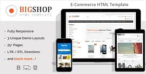Bigshop – eCommerce HTML Template