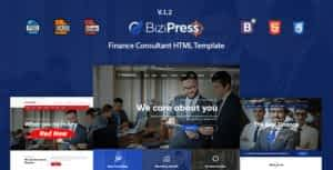 BiziPress – Finance, Consulting, Business HTML Template