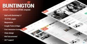 Buntington – Education HTML Template