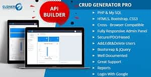 CRUD Generator and API Builder Pro + Advance Login, User Management