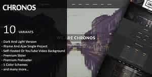 Chronos – Parallax One Page HTML Template