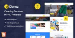 Clenoz – Cleaning Service HTML Template