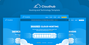 Cloudhub – Hosting and Technology HTML Template
