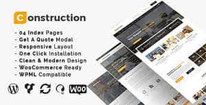 Construction – Building Business and Renovation WordPress Theme