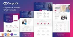 CorporX – Corporate and Business HTML Template