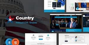Country – Political HTML Template