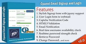 Cpanel Email Signup and Login