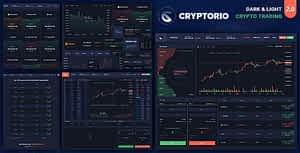 Cryptorio – Cryptocurrency Trading Dashboard HTML Template