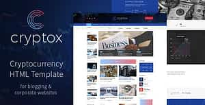 Cryptox – Cryptocurrency HTML Template
