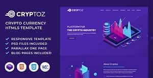 Cryptoz   ICO, Bitcoin And Crypto Currency HTML Template