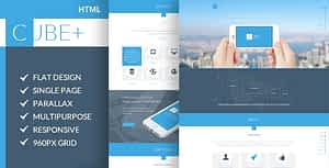Cube+ | One Page Parallax HTML Template