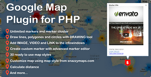 DML Google Map Script for PHP