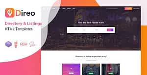 Direo – Directory & Listing HTML Template