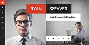 Divergent – Personal Vcard Resume HTML Template