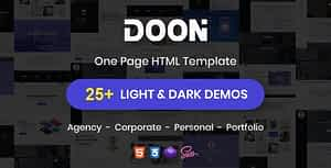 Doon – One Page Parallax HTML Template