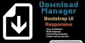 Download Manager Responsive Bootstrap UI